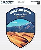 Squiddy Great Sand Dunes National Park - Vinyl Sticker Decal for Phone, Laptop, Water Bottle (3' Tall)