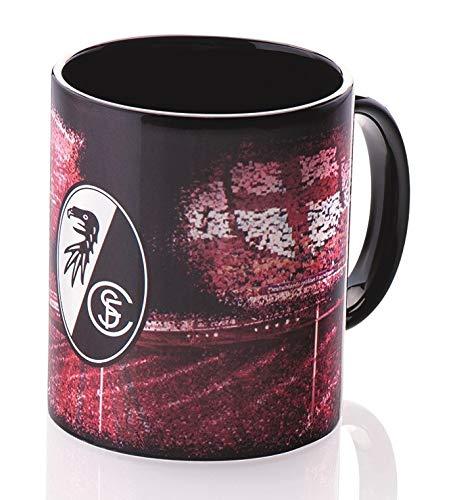 SC Freiburg Tasse Metallic, Kaffeetasse, Kaffeepott, Mug, Becher - Plus Lesezeichen Wir lieben Fußball