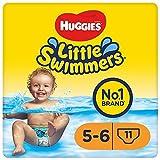 Huggies Little Swimmers Maillots de bain jetables pour bébés, Taille 5-6 (12-18 kg), couches-culottes, Unisexe - 33 Pièces