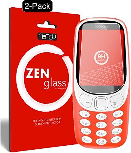 ZenGlass [2 Stück Flexible Glas-Folie kompatibel mit Nokia 3310 Panzerfolie I Bildschirm-Schutzfolie 9H I (Kleiner Als Das Gewölbte Bildschirm)