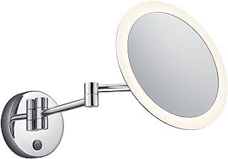 Trio Leuchten 282990106 View, metal w kolorze chromu, akryl biały, 3 W, dotykowy włącznik