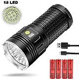 Taschenlampe Super Bright-18 x T6 LED 18000 Lumen Wiederaufladbare USB