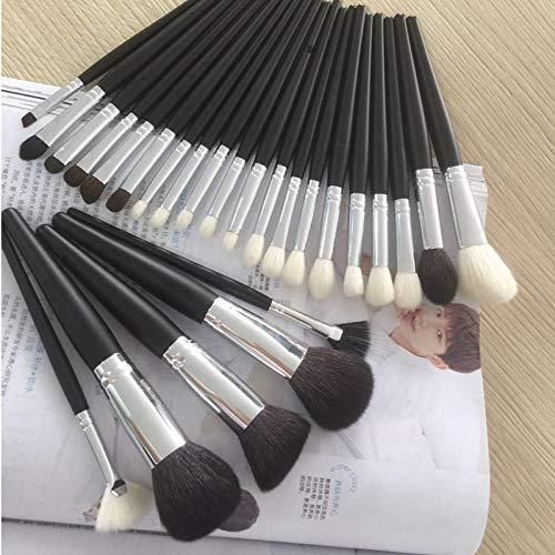 Maquillage Brush Set,26 rouge à lèvres professionnel fard à paupières fondation ensemble complet d'outils de beauté maquilleuse professionnelle, noir