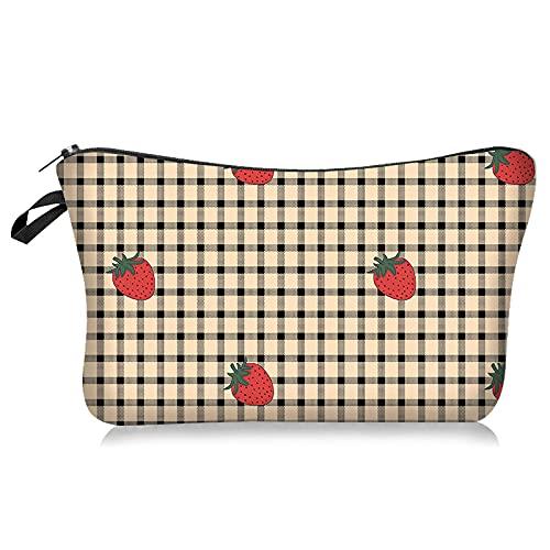 Confortabil Bolsa de maquillaje portátil de viaje bolsa de cosméticos para mujeres patrones bolsa de cremallera regalos bolsa de maquillaje para niñas con cremallera