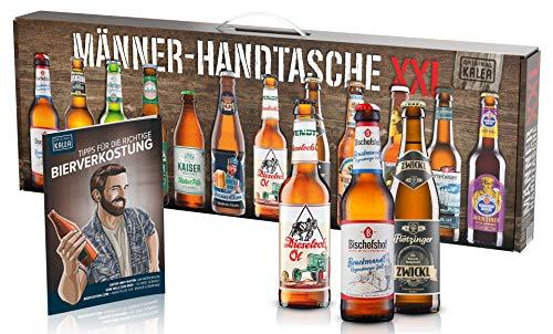 KALEA Männerhandtasche XXL, 12 Biere von Privatbrauereien aus Deutschland, Geschenk für Männer und alle die gerne ein Bier verkosten