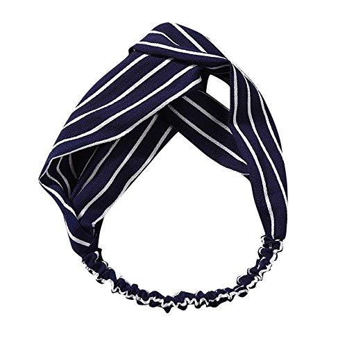 Sunenjoy Femme Headbands Vintage élastique Floral Imprimé Turban Tête Cheveux Wrap Hairband Twisted Cheveux Accessoires