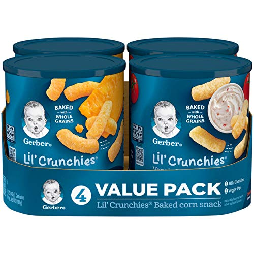 Gerber Lil' Crunchies Mild Cheddar and Veggie Dip, 5.92 Ounce