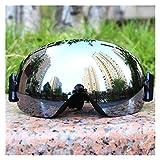 Exterior Gafas de esquí Ligero a Todo Color Doble Lente Anti-Niebla Grande...