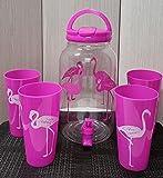 Set de Dispensador de Bebidas Frías con grifo de 3.8 litros con 4 vasos...
