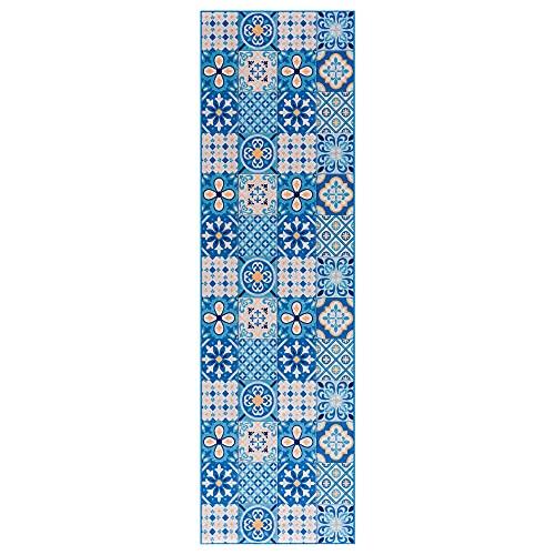 wunderlin Alfombra de pasillo colección cocina lavable diseño moderno valioso uso para alfombra de pasillo antideslizante y cocina | útil alfombra de cocina lavable (60 x 200)