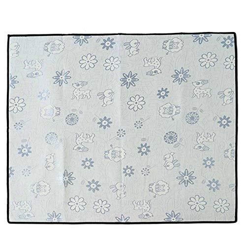 Pet Ice Silk Mat, Dog Cat Cooling MatChill Bed Indoor Summer Heat Relief Cushion Gel Pad Seat, Light Bule, L