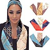 Aisaide 3Pcs Soft Satin Edge Scarf Wrap Hair Laying Scarf For Women...