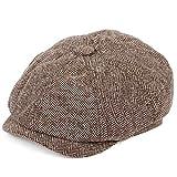 IADZ Sombrero, Gorras de Vendedor de periódicos Retro Sombreros octogonales de Hombre Negro Otoño Invierno Boinas Gorras Planas de Espiga