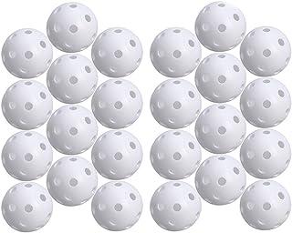 STOBOK 24pcs Perforated Play Balls Hollow Golf Practice Training Sports Balls (White)