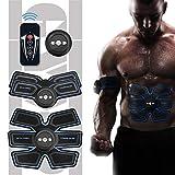 Entrenador EMS Estimulador muscular abdominal,Aparato de entrenamiento muscular para hombres y mujeres,masajeador abdominal perezoso, control remoto,Cinturones Dispositivo de entrenamiento en casa