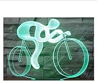 イリュージョンエクストリームスポーツウェイトリフティングマンスイミングスポーツナイトライトLED3Dイリュージョンランプ7色変更サイクリングバイクテーブルランプホームデコレーションライトベッドサイド