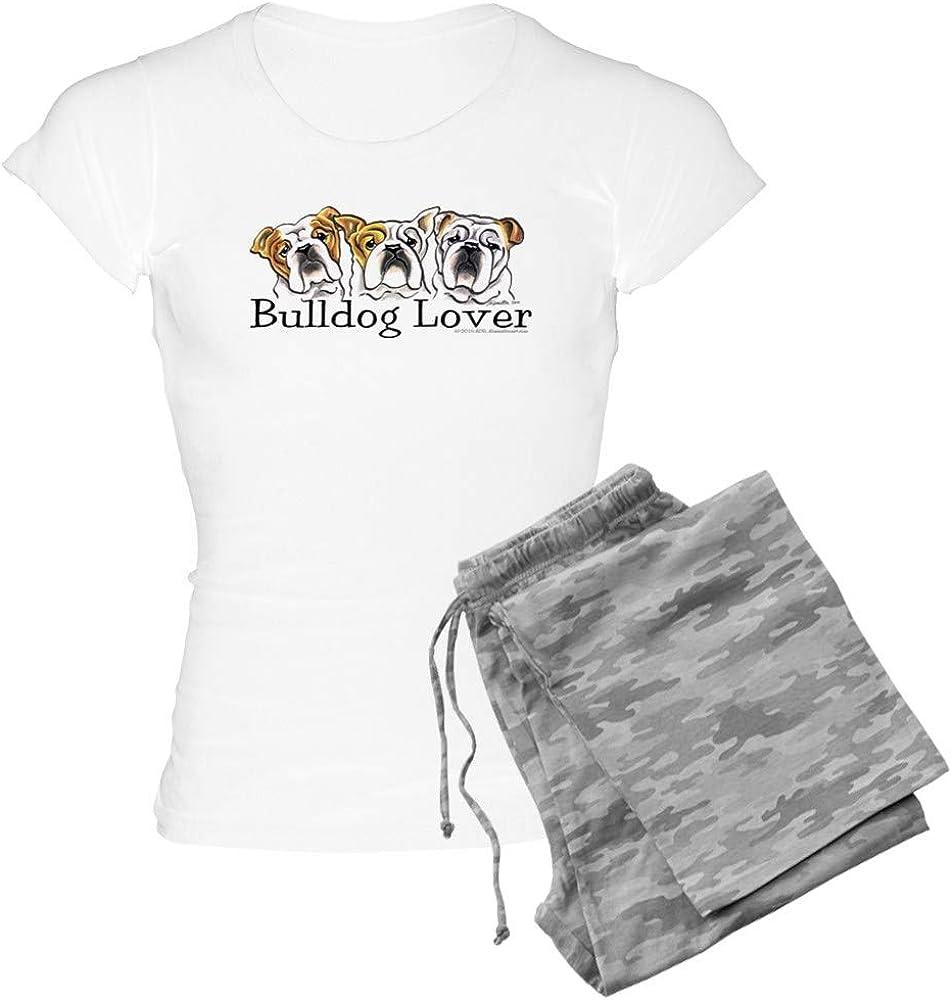 CafePress English Bulldog 5 ☆ very popular PJs Women's unisex Lover