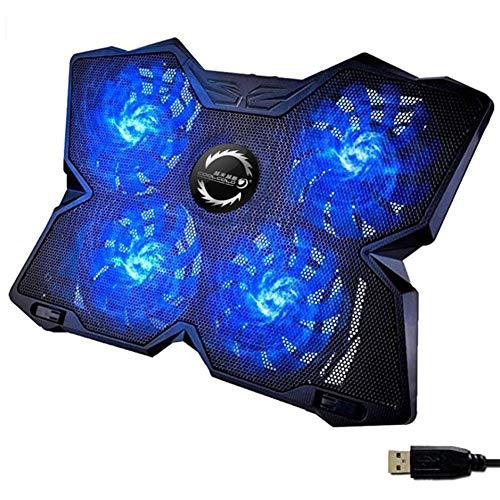 Kühlmatte Laptop Kühlpads Wind Laptop Kühler Leistungsstark Wie Kein Anderer Schneller Kühlvorgang 4 Lüfter PC Notebook PS4 Belüfteter Laptop Ständer Gamer Gaming Stützhalterung Mit LED -2021 Versio