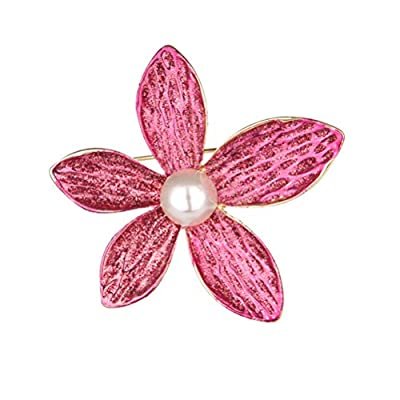 Brooch Stylish Dripping Delicate Lovely Hat Flower Brooch Pin Hot Pin Decorative Broche for Female Girl