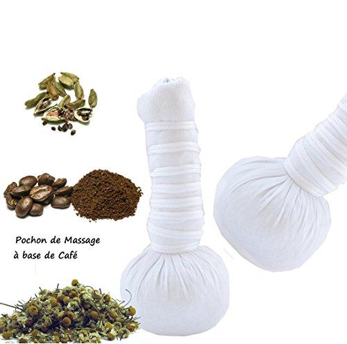 Balla - Pochon de massage aux plantes à base de café X2 bio et naturelle 110g