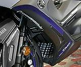 Adhesivos en Gel 3D Ergal para Cáscara Scooter Compatible Yamaha Tmax 560 de 2020 - Carbono Azul Metal