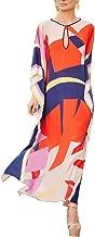 Women Long Maxi Cover Ups Swimsuit Turkish Ethnic Print Kaftan Beach Dress