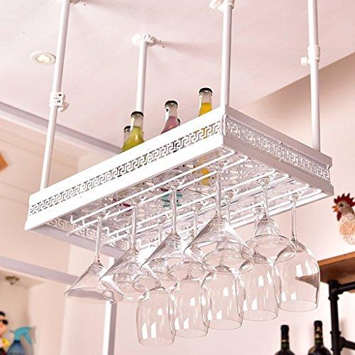 WIN&FACATORY Estante para Vino Estante Colgante para Copa de Vino Tinto Portavasos Colgante de Vidrio invertido Creative Home Bar Estante para Vino de Estante de Vidrio Estante de Vidrio d