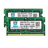 motoeagle 8GB Kit (2x4GB) DDR3L 1600MHz SODIMM PC3L-12800S 4GB 204-Pin Unbuffered Non-ECC 1.35V CL11 2Rx8 Dual Rank Notizbuch Arbeitsspeicher