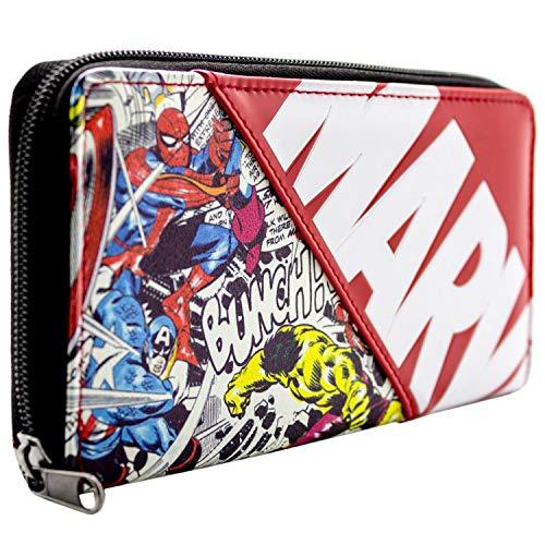Marvel Avengers Charaktere Comic-Art Rot Portemonnaie Geldbörse