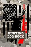 Hunting Log Book: A Log Book Journal to Record Your Hunting Season Field Notes - Gift for Camo Lovers. Deer American Flag