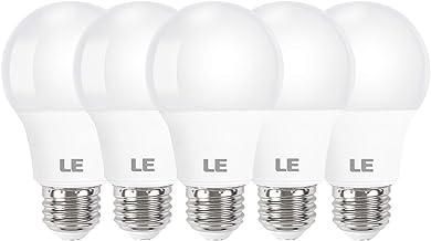 LE LED Light Bulbs, 60W Equivalent 5000K Daylight White Non-Dimmable, A19 E26 Standard Medium Base, UL Listed, 8.5 Watt, Pack of 5