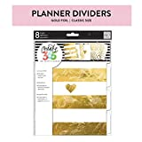 Me & My Big Ideas Gold Foil Dividers, Classic Size - The Happy Planner Scrapbooking Supplies - Stylish & Functional - Pre-Punched - Add Extra Sections - Customize, Organize & Separate - 8 Pieces