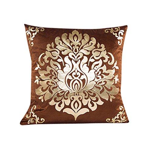 Kissenbezug 45 x 45 cm Goldsamt Quadrat Sofa Taille Wurf kopfkissenbezüge LuckyGirls (Braun)