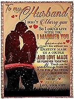 私の夫への手紙愛のスタンプ手紙スタイル毛布ソファ寝具ベッドカバー旅行キャンプピクニック毛布寝室昼寝オフィスバレンタインデープレゼント毛布,C,130*150