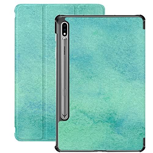 Funda para Samsung Galaxy Tab S7 / s7 Plus Colorido Bohemio Turquesa Sepiolita Soporte Funda Trasera Compatible con Samsung Galaxy Tab S7 Funda para Galaxy Tab S7 11 Pulgadas S7 Plus 12,4 Pulgadas