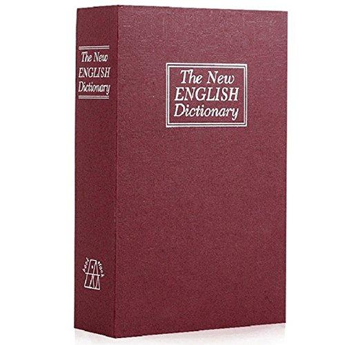 Heritan Libro de diccionario seguro de desviación secreto secreto secreto secreto escondido caja fuerte para libros y llave roja