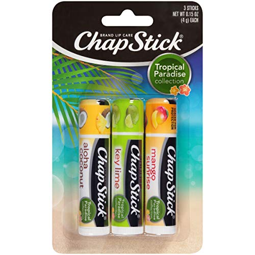 Chapstick Tropical Paradise Collection Lip Care 015 Ounce 3 ct