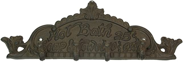 IWDSC Cast Iron Wall Hook - Hot Bath 25 Cents