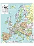 Mapa político de Europa para pared (laminado)
