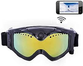 $119 » 1080P HD Ski-Sunglass Goggles WiFi Sports Camera Colorful Double Anti-Fog Lens for Ski Live Image Video Monitoring