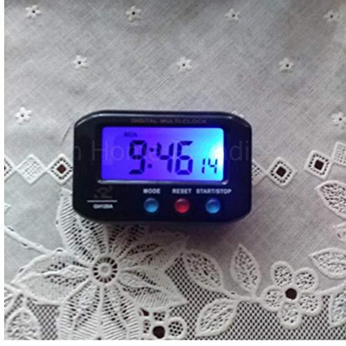 ZYZYY Reloj de Alarma Digital de Bolsillo portátil de plástico Mini Relojes LED Temporizador Cuenta Regresiva Cronómetro Reloj de Mesa electrónico con luz de Fondo de Snooze