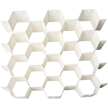 引き出し仕切り 板 引き出し収納用仕切り板 蜂の巣形 ネクタイ・靴下・化粧品を収納 組み合わせ自由 (ホワイト)
