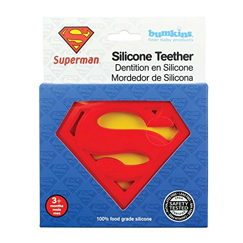 Product Image 7: Bumkins Silicone Teether, DC Comics Textured, Soft, Flexible, Bacteria Resistant – Superman