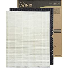 Genuine Winix brand replacement for the Winix 5500-2 air Purifier Includes a 99. 97Percent efficient true HEPA, capturing particles to 0. 3microns With an advanced odor control aoc Carbon filter for blocking VOCs, fumes and odors Winix original filte...