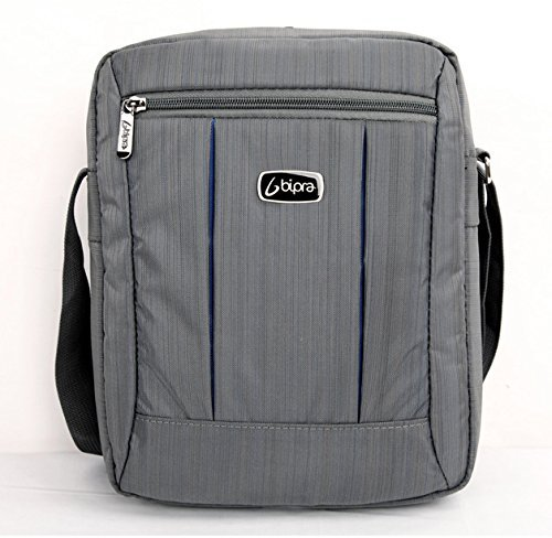 Bipra 10.2 Netbook Messenger Bag Compact Suitable for 10.2 Inch Devices Netbook Laptop Computers, Tablets, iPad, iPad Mini (Grey)