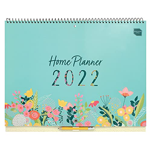 (en inglés) Home Planner de Boxclever Press Calendario Pared. Planificador Mensual con 16 Meses desde Sept'21-Dic'22. Calendario 2021 2022 con Pestañas Mensuales, Listas de Tareas y Pegatinas