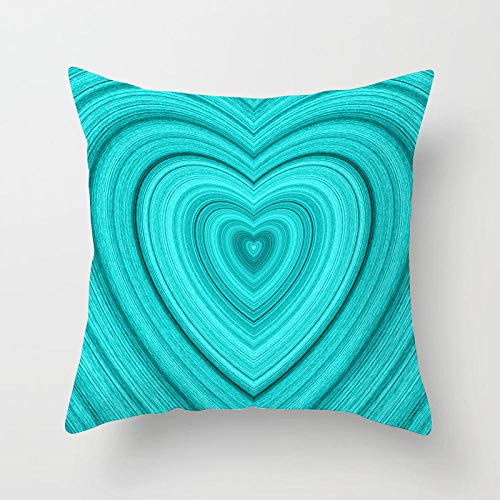 ZNXJC 1pc Funda de Almohada Decoración del hogar Funda de Almohada Cojín Decorativo Azul 18x18 Pulgadas para sofá al Aire libre-45x45 cm_4