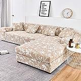 WXQY Fundas Estampadas elásticas Antideslizantes Funda de sofá para Mascotas Funda de sofá para Mascotas Esquina en Forma de L Funda de sofá Antideslizante A16 2 plazas
