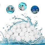 Huifengjie Bola de Filtro para Piscina,Bolas de Fieltro para filtros de Arena, 700 g, reemplazan a 25 kg de Arena de Filtro para Piscina,para Filtro de Piscina Bolas de Filtro e Arena de Acuario