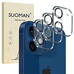 【Compatible model】Only Fit for iPhone 12 Mini 5.4'' Camera Lens. Do Not Fit for 12 / Pro / Pro Max, Please make sure before you purchase. 【Product Material】2.5D 9H Hardness Tempered Glass, protect from accidental scuffs and scratches by knife, keys a...
